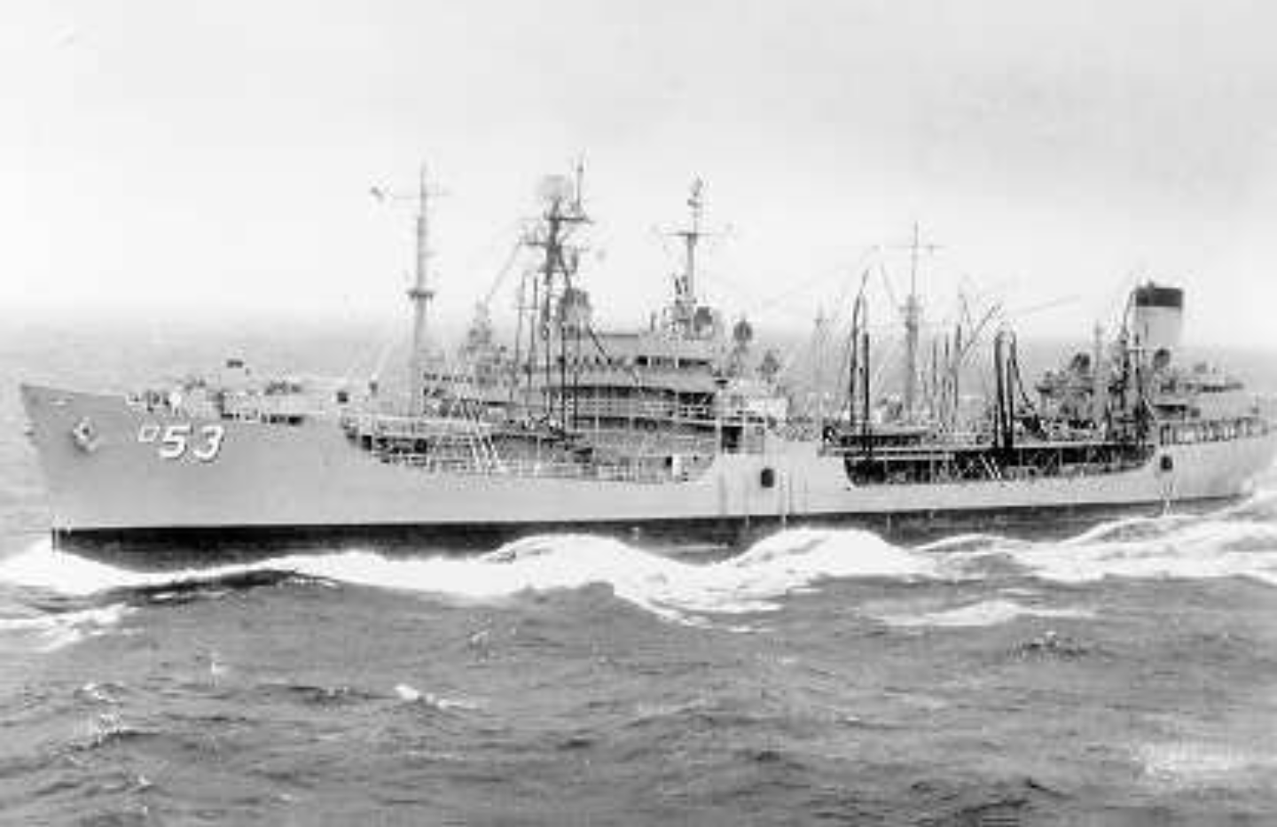 USS CALIENTE WITH OLD RIGGING AND FULL ARMAMENT
