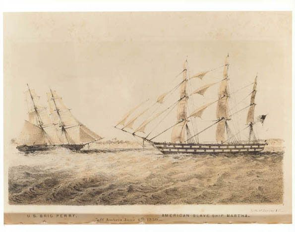 USS Perry and slave ship Martha